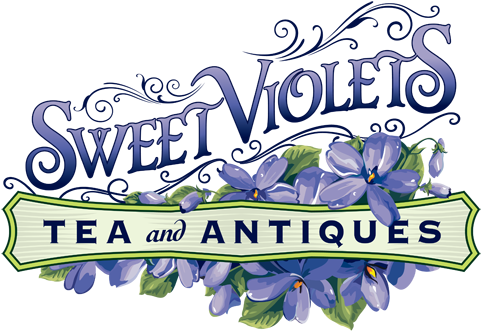 Logo for Sweet Violets Tea & Antiques