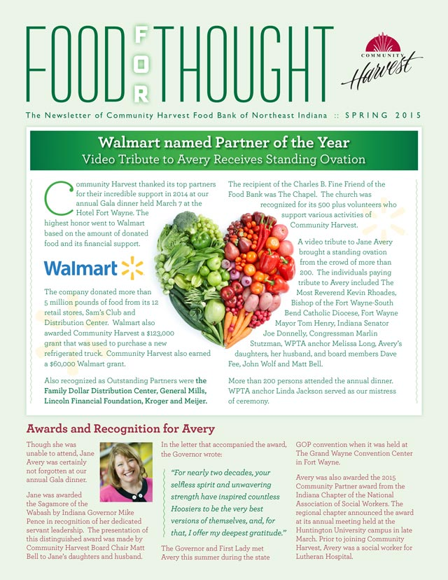 Community Harvest Newsletter Cover Design