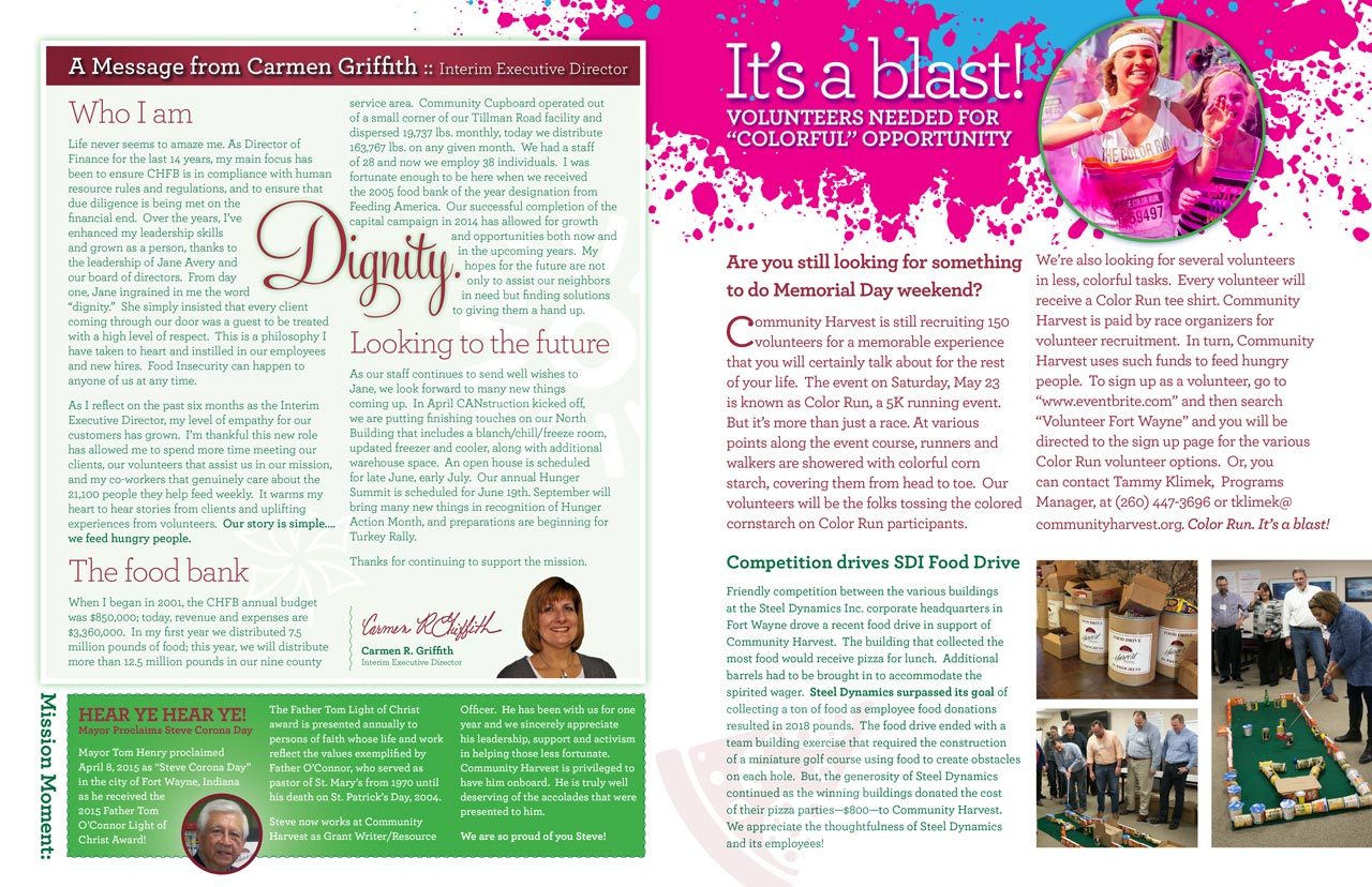 Community Harvest Newsletter Interior Design