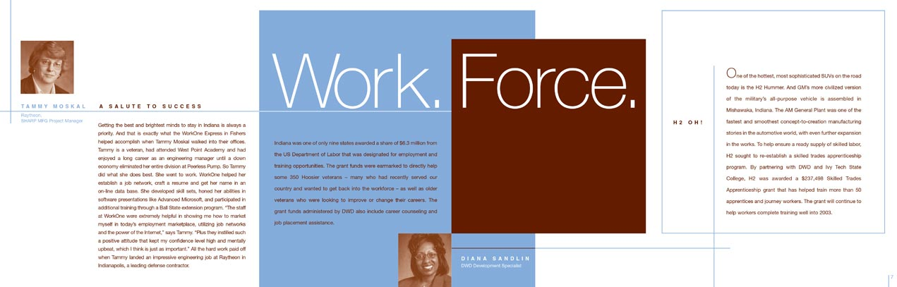 Department of Workforce Development Annual Report Interior Spread