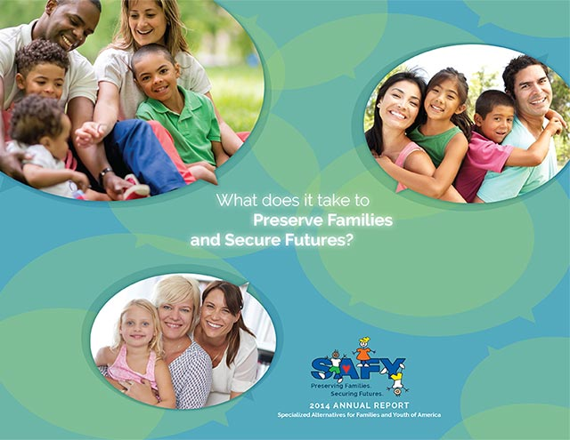 SAFY – Specialized Alternatives for Family and Youth of America 2014 Annual Report Cover