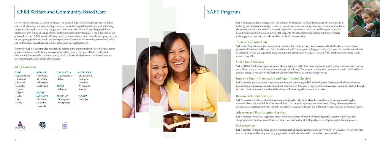 SAFY – Specialized Alternatives for Family and Youth of America 2013 Annual Report Interior
