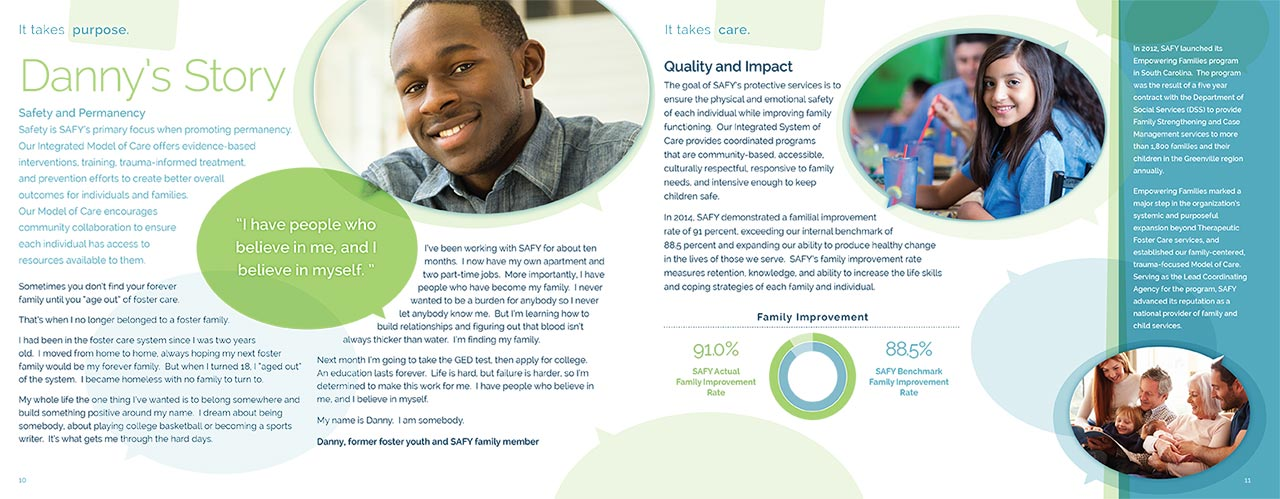 SAFY – Specialized Alternatives for Family and Youth of America 2014 Annual Report Spread