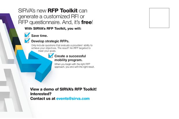 Sirva RFP Toolkit Promotion Back