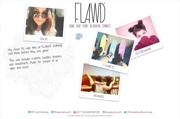 Flawd™ Clothing Website Homepage