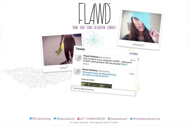 Flawd™ Clothing Website Interior Page