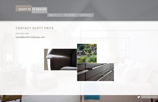 Scott Fritz Design Website Interior Page