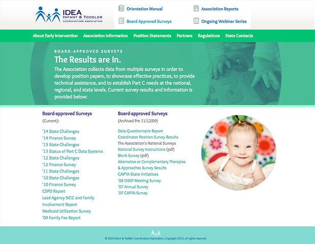 Part C Idea Infant Toddler Website Design and Development